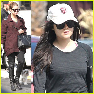 Lucy Hale & Ashley Benson: Separate Outings After PLL Halloween Episode
