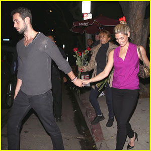 Ashley Greene & Paul Khoury Hold Hands at Hooray Henry's