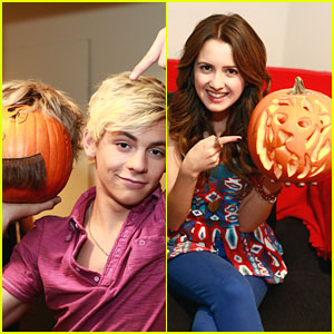 Ross Lynch & Laura Marano Share Pumpkin Pics!