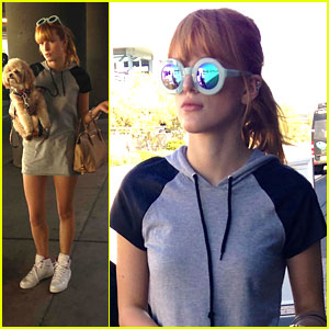 Bella Thorne: 'Big Sky' Arrival in Albuquerque