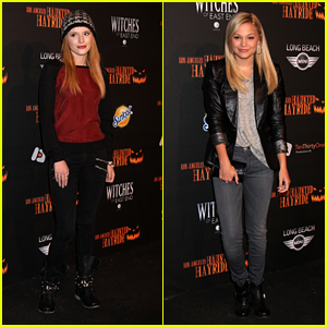 Bella Thorne: Haunted Hayride Premiere Night with Olivia Holt!
