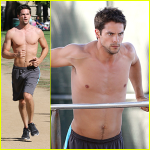 Brant Daugherty: Shirtless Park Workout