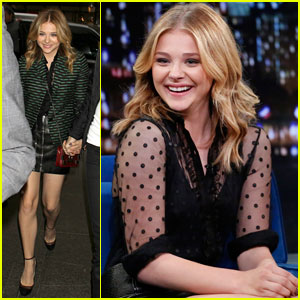 Chloe Moretz Stops By 'Late Night with Jimmy Fallon'