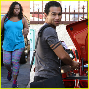 Corbin Bleu & Amber Riley: 'DWTS' Practice with Brant Daugherty!
