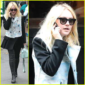 Dakota Fanning Dines with Richard Gere