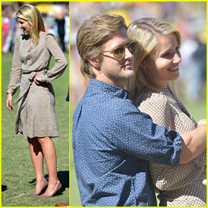 Dianna Agron & Nick Mathers: Veuve Clicquot Polo Classic Couple!