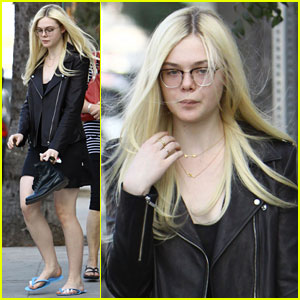 Elle Fanning: Sunday Pedicure Pampering
