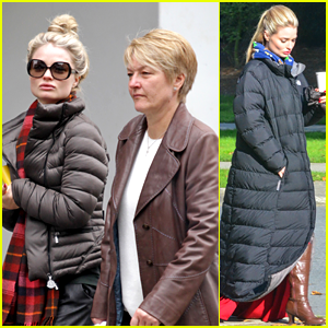 Emma Rigby: Bundled Up on 'Wonderland' Set!