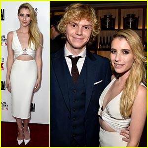 Emma Roberts & Evan Peters: 'American Horror Story' Premiere Pair!