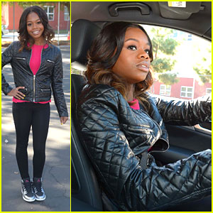 Gabby Douglas: Mercedes-Benz Driving Academy Event