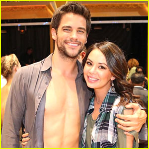 Janel Parrish Visits Brant Daugherty on DWTS!