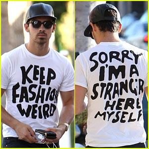 Joe Jonas Wants to 'Keep Fashion Weird'