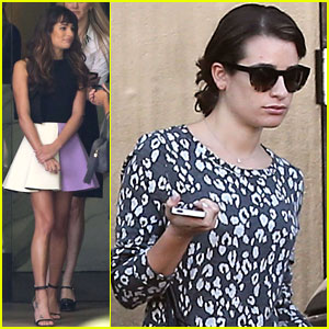 Lea Michele Hits the Recording Studio Ahead of 'Glee' Cory Monteith Tribute