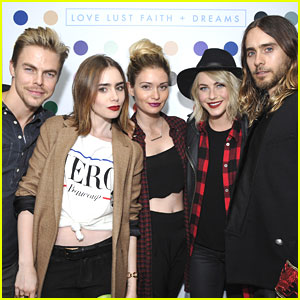 Lily Collins & Julianne Hough: Thirty Seconds To Mars Tour Celebration