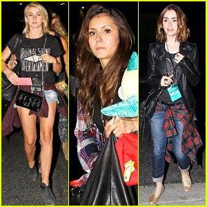 Nina Dobrev & Julianne Hough: Girls Night with Lily Collins!