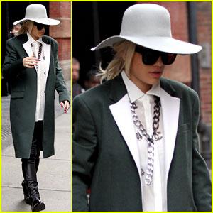 Rita Ora: Chic NYC Hotel Exit