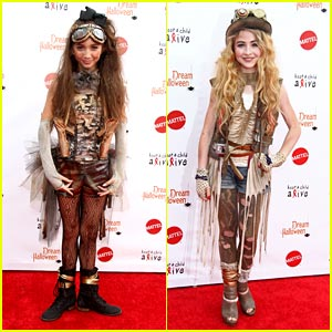Rowan Blanchard & Sabrina Carpenter: Dream Halloween's Steam Punk Pair!