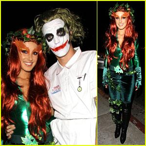 Shenae Grimes & Josh Beech: Midori Green Halloween Party 2013