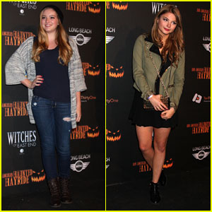 Stefanie Scott & Willow Shields: Haunted Hayride Premiere Night