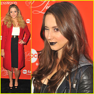 Troian Bellisario: Black Lipstick for PLL Halloween Screening
