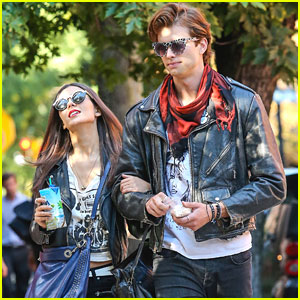 Victoria Justice & Pierson Fode: Leather Jackets For 'No Kiss List'