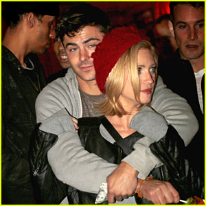 Zac Efron & Brittany Snow: Arm-in-Arm at Haunted Hayride