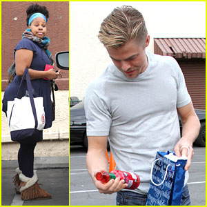 Amber Riley & Derek Hough: Gifts From Fans After DWTS Practice