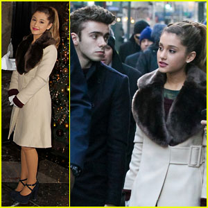 Ariana Grande & Nathan Sykes Bundle Up in NYC