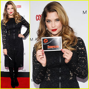 Ashley Benson: Kisses For The Troops in NYC!
