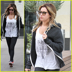 Ashley Tisdale: Workout after 'Super Fun Night' Wrap
