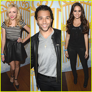 Corbin Bleu & Peyton List: Fresh Tops Selena Gomez VIP Party!