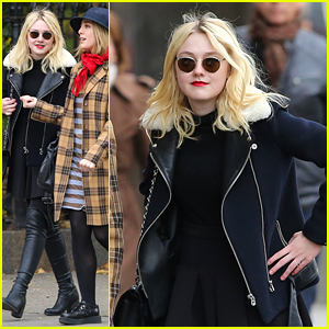 Dakota Fanning: Red Lipstick Lovely in NYC