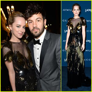 Dakota Johnson: LACMA Art & Film Gala with Jordan Masterson!