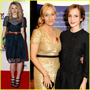 Emma Watson Supports J.K. Rowling at Lumos Event