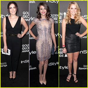 Isabelle Fuhrman & Willa Holland: HFPA & InStyle Golden Globe Party
