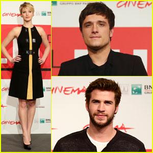 Jennifer Lawrence & Josh Hutcherson: 'Catching Fire' Rome Photo Call