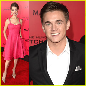 Jesse McCartney & Lyndsy Fonseca: 'The Hunger Games: Catching Fire' L.A. Premiere