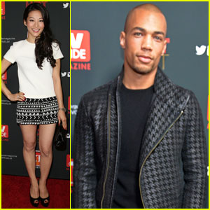 Kendrick Sampson & Arden Cho: 'TV Guide' Hot List Party 2013