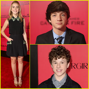Kiernan Shipka & Jake Short: 'Catching Fire' Premiere with Nolan Gould