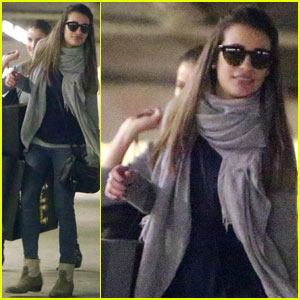 Lea Michele: Barneys Stop in Beverly Hills