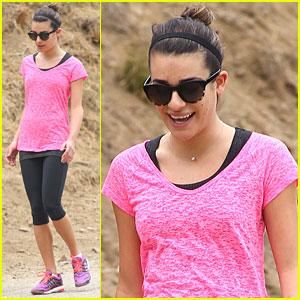 Lea Michele: Hot Pink Hiker