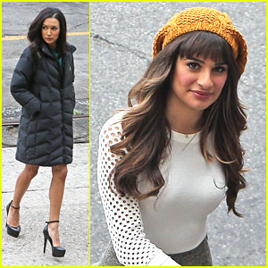 Lea Michele & Naya Rivera: Downtown for 'Glee'!