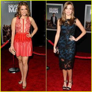 Leslie Ann Glossner & Lili Simmons: 'Delivery Man' Premiere