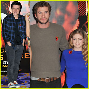 Liam Hemsworth & Josh Hutcherson: 'The Hunger Games: Catching Fire' London Photo Call