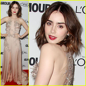 Lily Collins: Glamour's Women of the Year Awards 2013