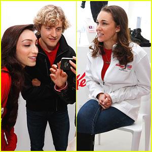 Meryl Davis & Sarah Hendrickson: Team Kellogg's Sochi Kick-Off Event