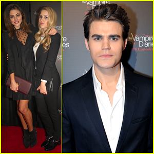 Paul Wesley & Phoebe Tonkin: 'The Vampire Diaries' 100th Episode Party
