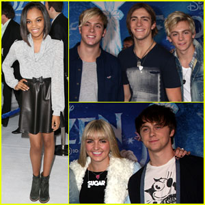 R5 & China McClain: 'Frozen' Premiere Attendees!