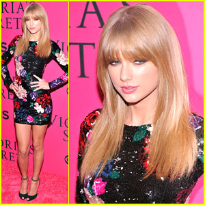 Taylor Swift: Victoria's Secret Fashion Show 2013 Red Carpet Pics!