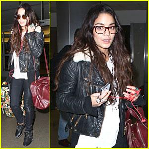Vanessa Hudgens Sports Eyeglasses at LAX Airport